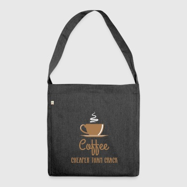 Coffee - Addiction - Coffee Cup - Coffee Pot - Coffee - Shoulder Bag made from recycled material