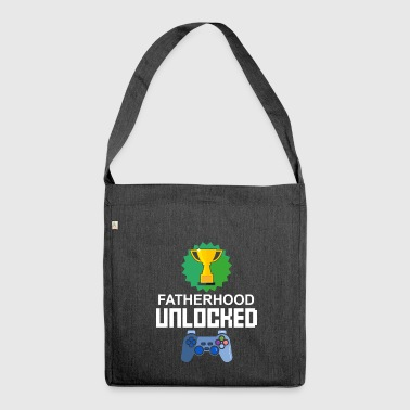 Niveau Unlocked paternité Gamer Gaming cadeau - Sac bandoulière 100 % recyclé
