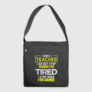 Teacher Gift Teacher Teaching School Teacher - Shoulder Bag made from recycled material