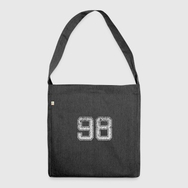 Number 98 Number Ninety-eight Nine Eight Gift - Shoulder Bag made from recycled material