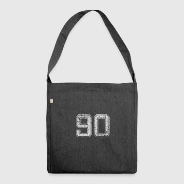 Number 90 Number Ninety Nine zero Gift - Shoulder Bag made from recycled material