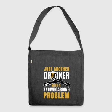 Snowboarder Present Snowboarding Drinker Snowboard - Shoulder Bag made from recycled material