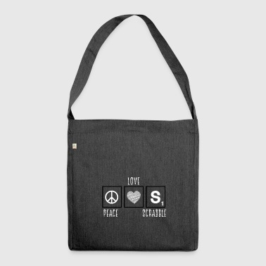 Peace Love Scrabble - Funny Letter Game Nerd - Shoulder Bag made from recycled material