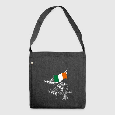 Irland - Schultertasche aus Recycling-Material