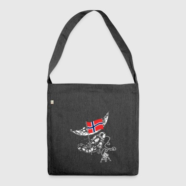 Norway conquers space Scandinavia flag - Shoulder Bag made from recycled material
