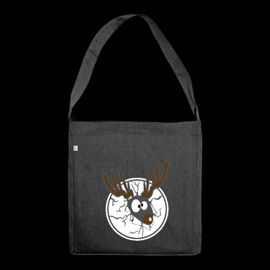 Reindeer Crash Gift Idea for Teens - Shoulder Bag made from recycled material