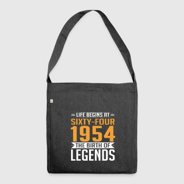 1954 64 64th Birthday years Legends gift - Schultertasche aus Recycling-Material