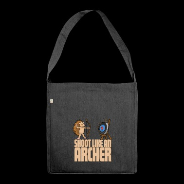Archer Hedgehog - Archery Archer - Shoulder Bag made from recycled material