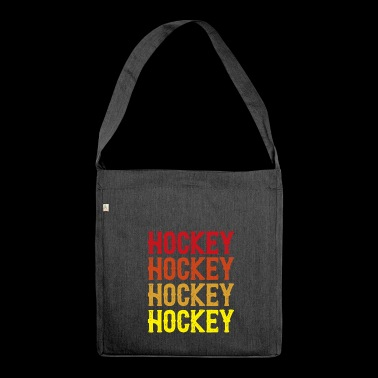Hockey Hockey Hockey - Schultertasche aus Recycling-Material