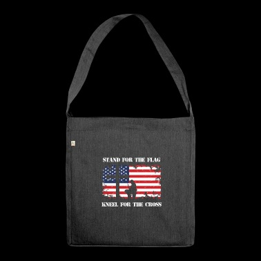 Stand For The Patriotic Kneel For The Cross Patriot - Shoulder Bag made from recycled material