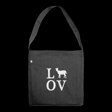 Love Goats - I love goats - Shoulder Bag made from recycled material
