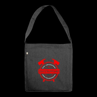 Fire fighters firefighter born - Shoulder Bag made from recycled material