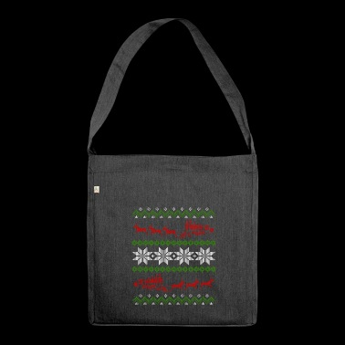Locomotive Railway Ugly Christmas - Shoulder Bag made from recycled material