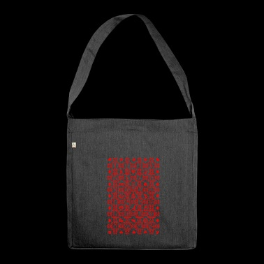 Advent Christmas Calendar Countdown December - Shoulder Bag made from recycled material