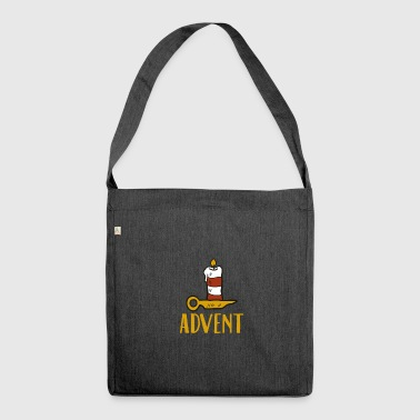 Advent One Candle Christmas Season Countdown Cool - Shoulder Bag made from recycled material