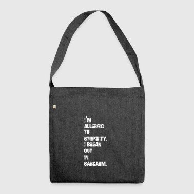 Sarcasm - Shoulder Bag made from recycled material