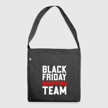 Black Friday Shopping Team hverdager Shopper Lover - Skulderveske av resirkulert materiale