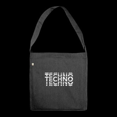 Techno Music Bass Shirt - Schultertasche aus Recycling-Material