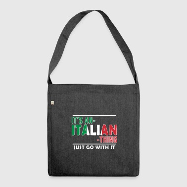 Funny Italian Gift || Gift Italian - Shoulder Bag made from recycled material