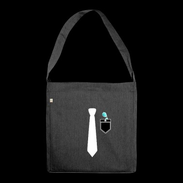 Shirt and suit with necktie cool sunglasses - Shoulder Bag made from recycled material