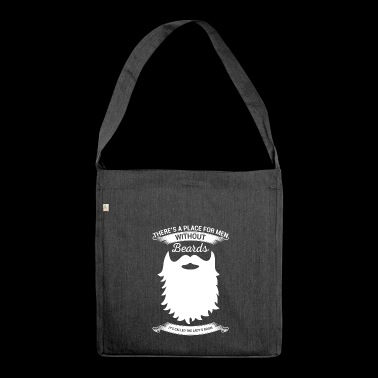 Funny beard tshirt - Shoulder Bag made from recycled material