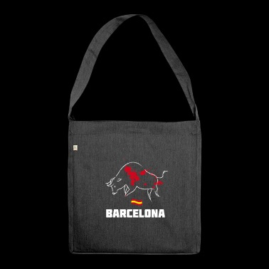 barcelona spain freedom bull blood catalan - Shoulder Bag made from recycled material