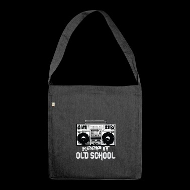 Old School Boombox 80s | Keeping It Old School - Shoulder Bag made from recycled material