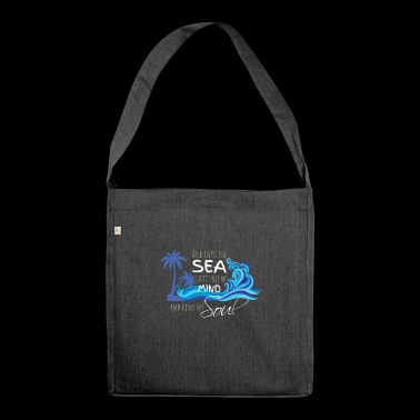 sea - mind - soul - Shoulder Bag made from recycled material