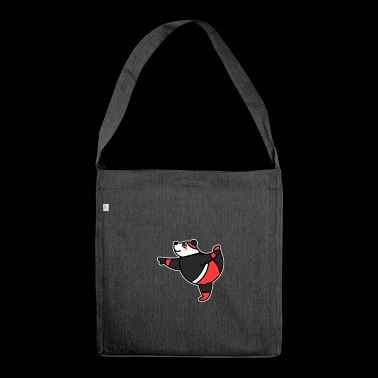 Yoga Panda Gift Esoteric New Age - Shoulder Bag made from recycled material