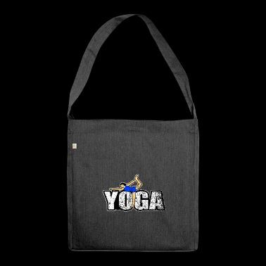 yoga gift new age namaste peace yogi - Shoulder Bag made from recycled material