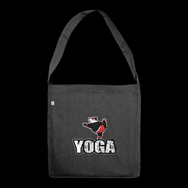 Dancing Yoga Bear Vintage Retro New Age - Shoulder Bag made from recycled material