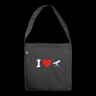 I love astronomy astronomy png - Shoulder Bag made from recycled material