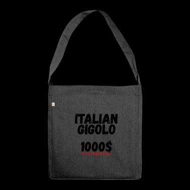 Italian Gigolo Tee Shirt for Him - Shoulder Bag made from recycled material
