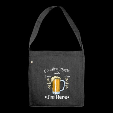 Country Music Beer Beer Glass Drink Irish Pub Bar - Shoulder Bag made from recycled material