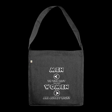 WOMEN ARE RIGHT - Shoulder Bag made from recycled material