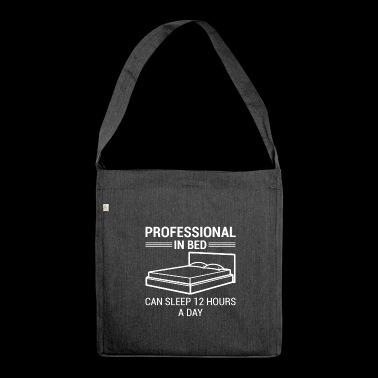Lustiger Spruch Shirt Sex - Schultertasche aus Recycling-Material
