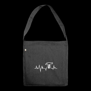 Pi Pulse - Pi Day - white - Shoulder Bag made from recycled material