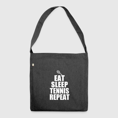 Tennis tennis racket tennis player tennis ball - Shoulder Bag made from recycled material