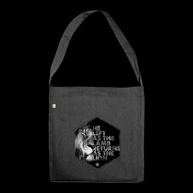 Lion Coming Soon von JT4Christ - Schultertasche aus Recycling-Material