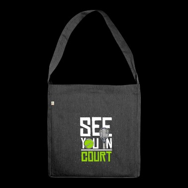 See you in court - Shoulder Bag made from recycled material