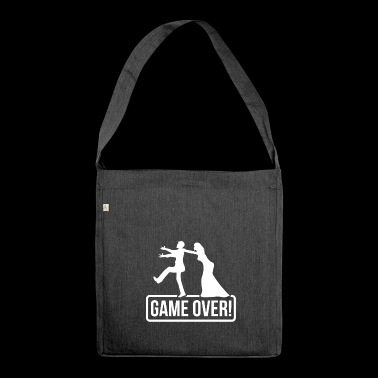 JGA Game over Bride Groom - Shoulder Bag made from recycled material