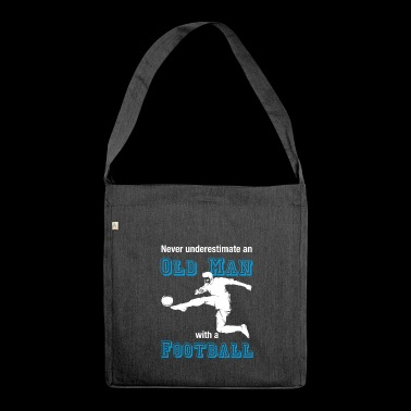 Old soccer player T-shirt soccer farewell - Shoulder Bag made from recycled material