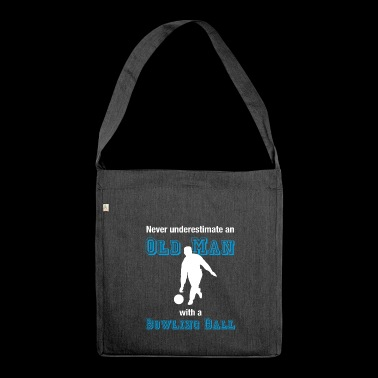 Old Bowler T-Shirt Bowler Oldie Farewell - Shoulder Bag made from recycled material