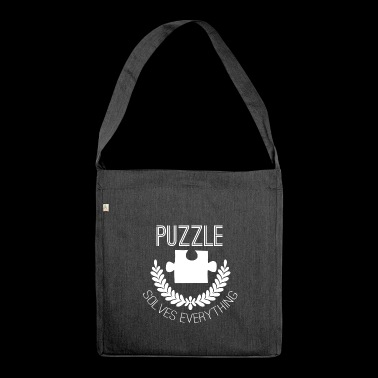 Jigsaw Puzzle - Puzzlen - Puzzle - Geschenk - Schultertasche aus Recycling-Material