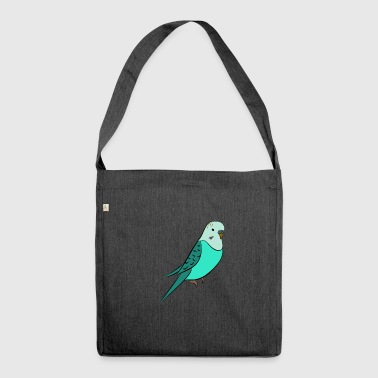 Budgie turquoise - Shoulder Bag made from recycled material