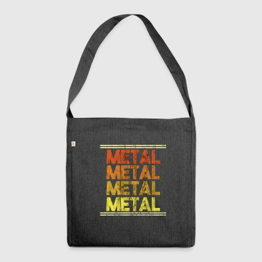 Metal Music Shirt - Gift - Shoulder Bag made from recycled material