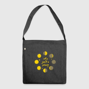 it's just a phase astronomy star physics galaxy - Shoulder Bag made from recycled material