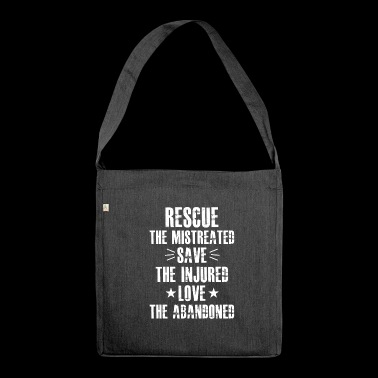 Animal Welfare Animal Rights Tshirt - Shoulder Bag made from recycled material