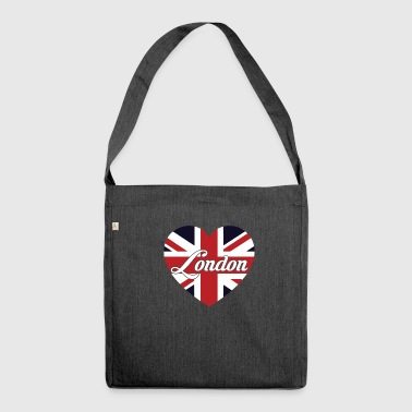 London British Flag Heart United Kingdom Cute - Shoulder Bag made from recycled material