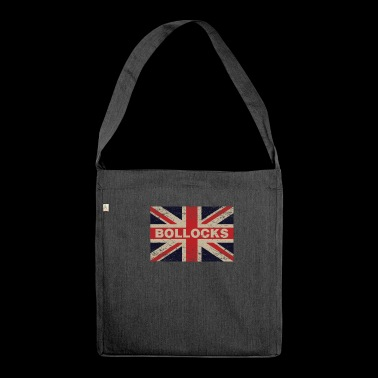 Bollocks On British Distressed Flag English - Shoulder Bag made from recycled material